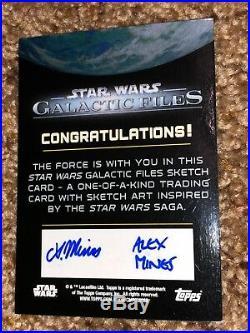 Star Wars Artist Sketch Card 1/1 Stormtrooper by Alex Mines