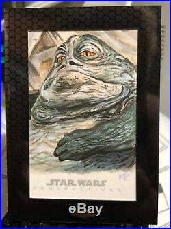 Star Wars Chrome Perspectives Artist Sketch Card 1/1 Kris Penix Jabba The Hutt