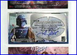 Star Wars Empire Strikes Back Widevision Topps 2010 Boba Fett Artist Sketch Card