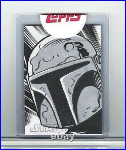Star Wars Evolution Boba Fett Original Artist Sketch Card 1/1 Topps Sealed Rare