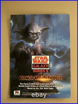 Star Wars Galaxy 5 Artist Sketch Card Gabe Farber AP Delta Squad Commandos