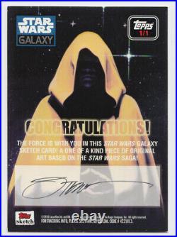 Star Wars Galaxy 6 Sketch Card Slave Princess Leia Steve Stanley Artist Proof AP