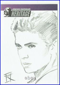 Star Wars Heritage Artist Sketch Card 1/1 Russell Russ Walks Anakin Skywalker