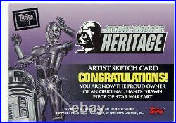 Star Wars Heritage Topps 2004 Sketch Card 1/1 Artist Jeff Carlisle (a)