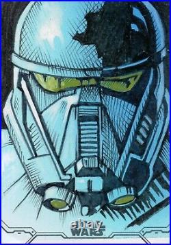 Star Wars Holocron 2020, Jason Queen Artist Sketch Card 1/1