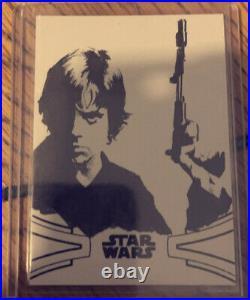 Star Wars Luke Skywalker Topps Signature Authentic Sketch Card Sky Walker Saga