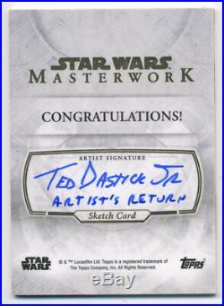 Star Wars Masterwork DARTH VADER Sketch Card ARTISTS RETURN AP Ted Dastick Jr 01