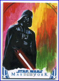 Star Wars Masterwork DARTH VADER Sketch Card ARTISTS RETURN AP Ted Dastick Jr 03