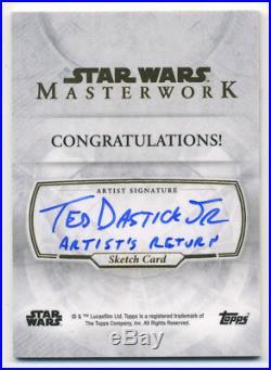 Star Wars Masterwork DARTH VADER Sketch Card ARTISTS RETURN AP Ted Dastick Jr 04