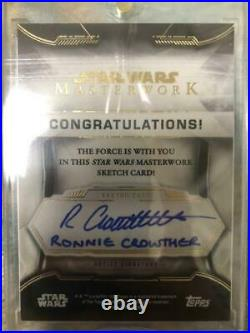 Star Wars Masterwork Sketch Card Wicket W. Warrick Autograph by the Artist
