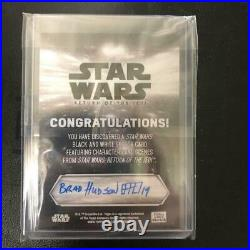 Star Wars Sketch Card Boba Fett Autograph by the Artist Topps with Tracking