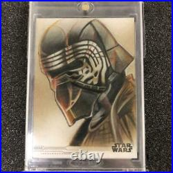 Star Wars Sketch Card Kylo Ren Autograph by The Artist Topps with Tracking