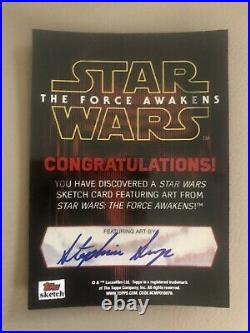 Star Wars The Force Awakens Artist Sketch Card Stephanie Swanger Kylo Ren