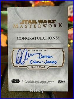 Star Wars Topps Artist Sketch Card 1/1 501st Trooper by Darren Coburn-James