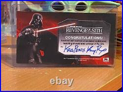 Star Wars Topps Artist Sketch Card 1/1 Anakin Obi-Wan Widevision by Kris Penix