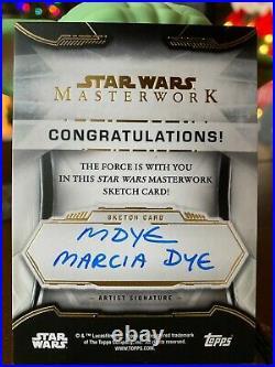 Star Wars Topps Artist Sketch Card 1/1 Anakin Skywalker by Marcia Dye