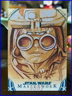Star Wars Topps Artist Sketch Card 1/1 Anakin Skywalker by Matthew Hirons