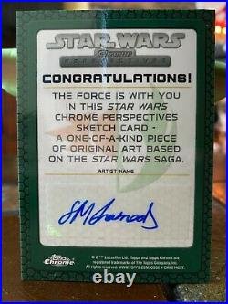 Star Wars Topps Artist Sketch Card 1/1 Anakin Skywalker by Solly Muhammad