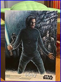Star Wars Topps Artist Sketch Card 1/1 Ben Solo by Erik Maell AP