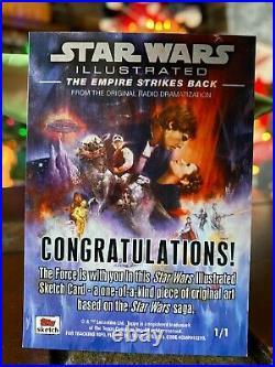 Star Wars Topps Artist Sketch Card 1/1 Boba Fett by Contois