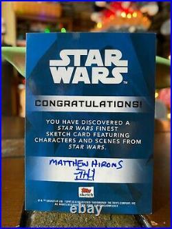 Star Wars Topps Artist Sketch Card 1/1 Boba Fett by Matthew Hirons