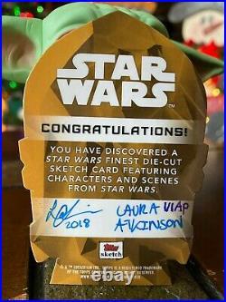 Star Wars Topps Artist Sketch Card 1/1 C-3PO by Laura Atkinson