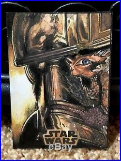 Star Wars Topps Artist Sketch Card 1/1 Captain Phasma by Darrin Pepe