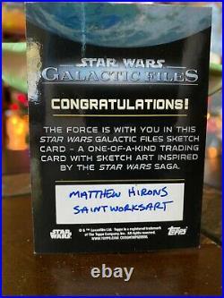 Star Wars Topps Artist Sketch Card 1/1 Churitt by Matthew Hirons