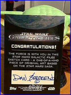 Star Wars Topps Artist Sketch Card 1/1 Clone Trooper by Dan Bergren