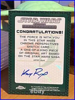 Star Wars Topps Artist Sketch Card 1/1 Darth Maul by Kris Penix