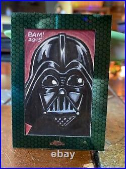 Star Wars Topps Artist Sketch Card 1/1 Darth Vader by Bamboota