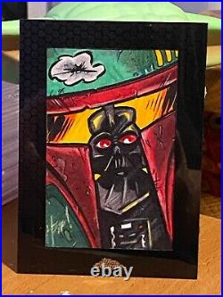 Star Wars Topps Artist Sketch Card 1/1 Darth Vader by Boba Fett