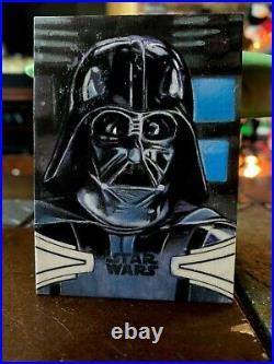 Star Wars Topps Artist Sketch Card 1/1 Darth Vader by Carlos Cabaleiro