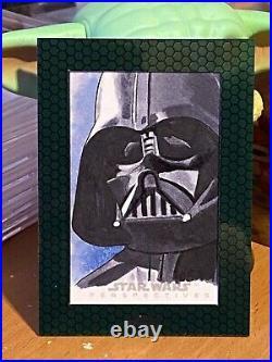 Star Wars Topps Artist Sketch Card 1/1 Darth Vader by Dan Bergren