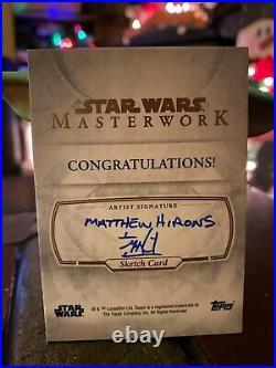 Star Wars Topps Artist Sketch Card 1/1 Darth Vader by Matthew Hirons