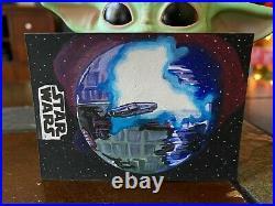 Star Wars Topps Artist Sketch Card 1/1 Death Star 2 Destruction by Jay Manchand