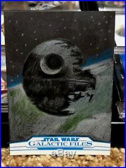 Star Wars Topps Artist Sketch Card 1/1 Death Star by John DiBiase