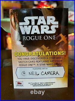 Star Wars Topps Artist Sketch Card 1/1 Death Trooper by Neil Camera