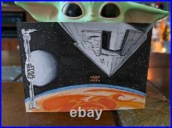 Star Wars Topps Artist Sketch Card 1/1 Destroyer by Kevin Cleveland