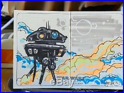 Star Wars Topps Artist Sketch Card 1/1 ESB Illustrated Imperial Probe Droid