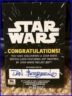 Star Wars Topps Artist Sketch Card 1/1 Force Awakens Hux by Dan Bergren
