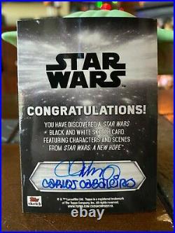 Star Wars Topps Artist Sketch Card 1/1 Grand Moff Tarkin by Carlos Cabaleiro