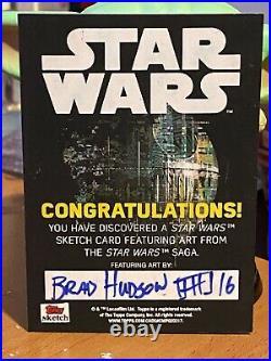 Star Wars Topps Artist Sketch Card 1/1 Greedo by Brad Hudson