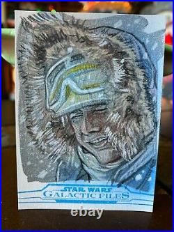 Star Wars Topps Artist Sketch Card 1/1 Han Solo by Matthew Hirons