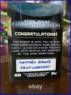 Star Wars Topps Artist Sketch Card 1/1 Han Solo by Matthew Hirons