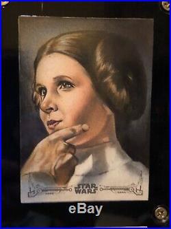 Star Wars Topps Artist Sketch Card 1/1 Huy Truong Princess Leia