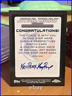 Star Wars Topps Artist Sketch Card 1/1 Jabba the Hutt by Kris Penix