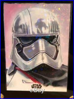 Star Wars Topps Artist Sketch Card 1/1 Kevin Graham Holographic Phasma