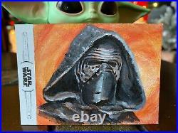 Star Wars Topps Artist Sketch Card 1/1 Kylo Ren by Anthony Skubis