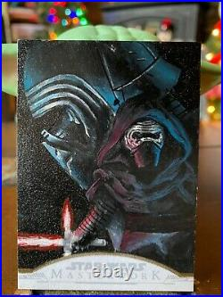 Star Wars Topps Artist Sketch Card 1/1 Kylo Ren by Ashley Marsh